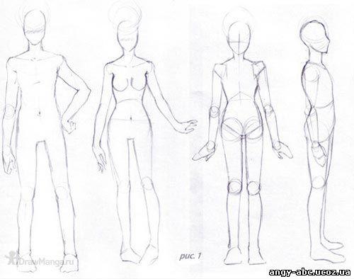как рисовать аниме ноги: